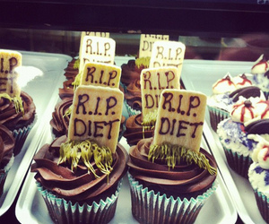diet, cupcake, and chocolate image