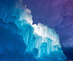 blue, ice, and beautiful image