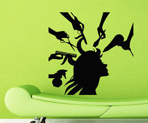 wall decals and beauty salon image