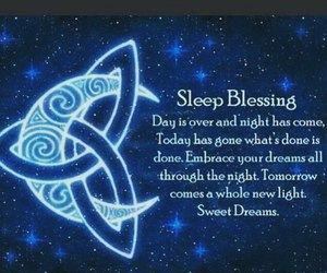 wicca, sleep blessing, and spell image
