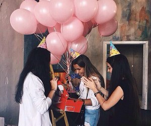 birthday girl, happy, and friend image