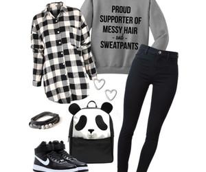 black, teenage, and casual image