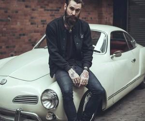 car, beard, and tattoo image