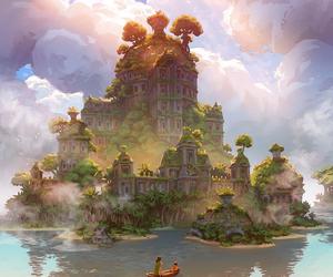 fantasy, Island, and art image
