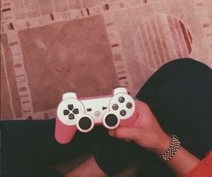 pink and playstation image