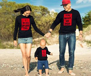 baby, daddy, and family image