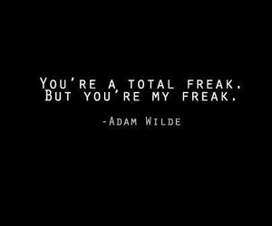 quote, love, and freak image
