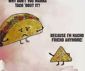 funny, nachos, and taco image