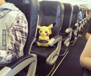 alone, pikachu, and plane image