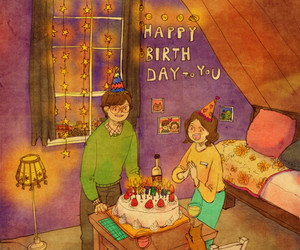 animation, girl, and happy birthday image