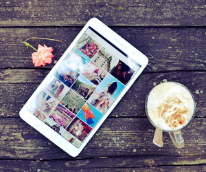 coffee, tablet, and weheartit image