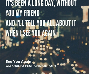 song, wiz khalifa, and see you again image