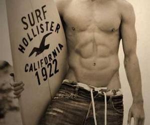hollister, boy, and surf image