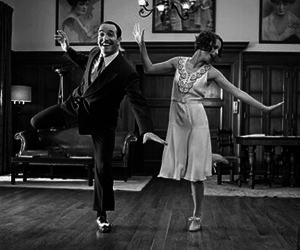black and white, dance, and The Artist image