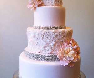 cake, marriage, and pink image