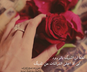 arabic, flower, and roses image