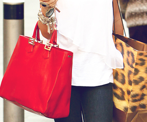 fashion, bag, and red image