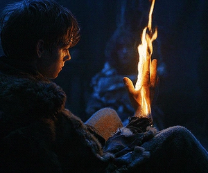 fire, thomas sangster, and game of thrones image