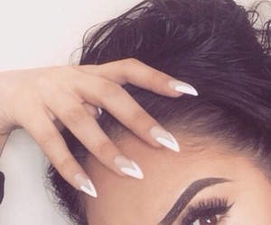 nails, makeup, and eyebrows image