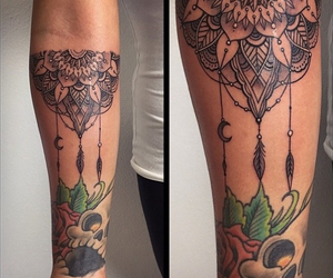 art, feather, and tattoo image