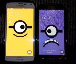friend, minions, and phone image