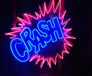 neon, light, and crash image