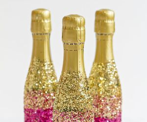 champagne, glitter, and pink image