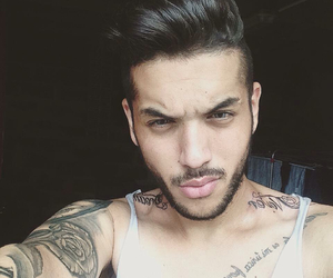 beard, tattos, and liam annasi image