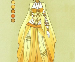 anime, draw, and dress image