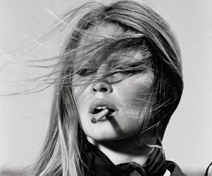 brigitte bardot, cigarette, and black and white image