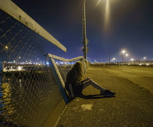 grunge, girl, and night image