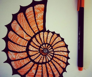 art, doodle, and orange image