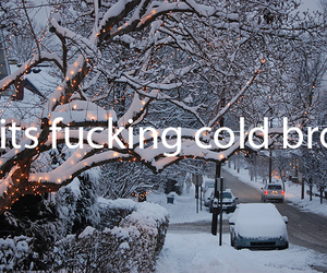 cold, winter, and snow image