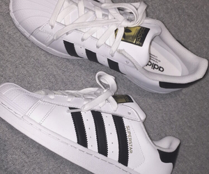 adidas, shoes, and black and white image