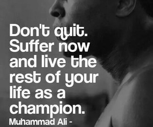 quotes, champion, and motivation image