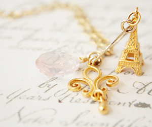 paris, gold, and accessories image