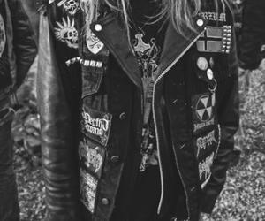 black and white, punk, and jacket image