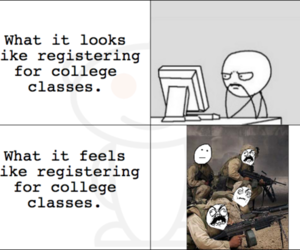college, comic, and strip image