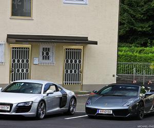 car, audi, and Lamborghini image