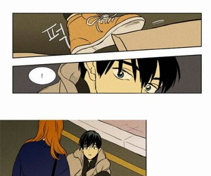 manhwa and cheese in the trap image