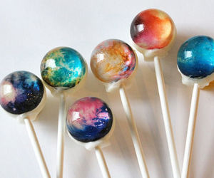 galaxy, lollipop, and candy image