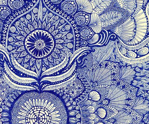 blue, art, and wallpaper image