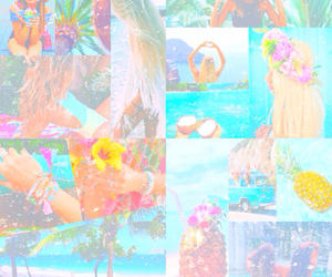 beach, bright, and colorful image