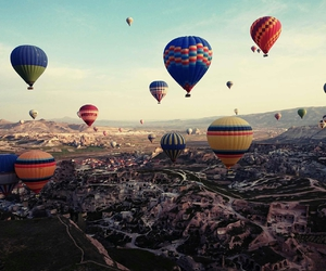 sky, balloons, and travel image