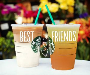 starbucks, drink, and friends image