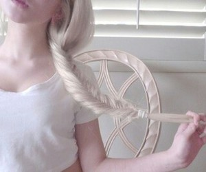 girl, pale, and hair image