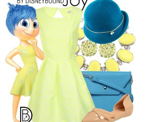 inside out, joy, and disneybound image