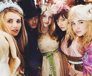 wild child, emma roberts, and friends image