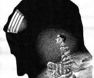 mind, prison, and prisoner image
