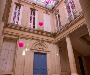 architecture, balloon, and hotel image